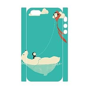 3D IPhone 5,5S Cases Parasailing, Doah, [White]