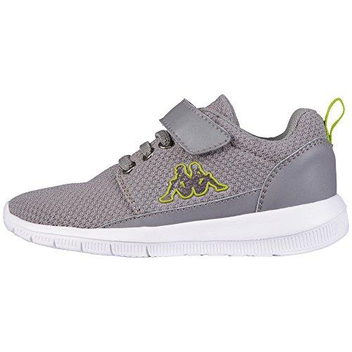 Kappa Unisex-Kinder Speed 2.1 Kids Sneaker Grau (Grey/Lime)