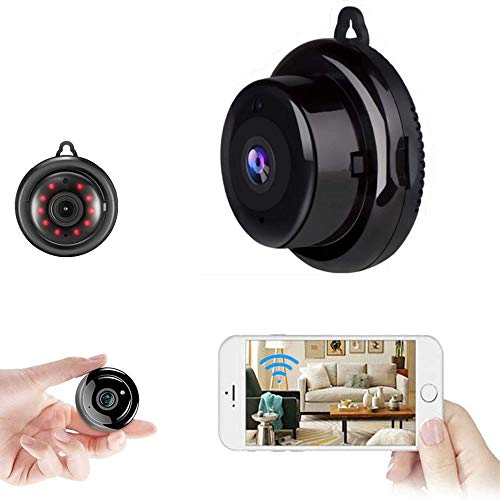 Hidden Spy Camera WiFi Mini Camera HD 1080P Small Wireless Camera with IP Camera with Infrared Night Vision Function, Used for Home Security Camera Baby Monitor, Nanny Camera