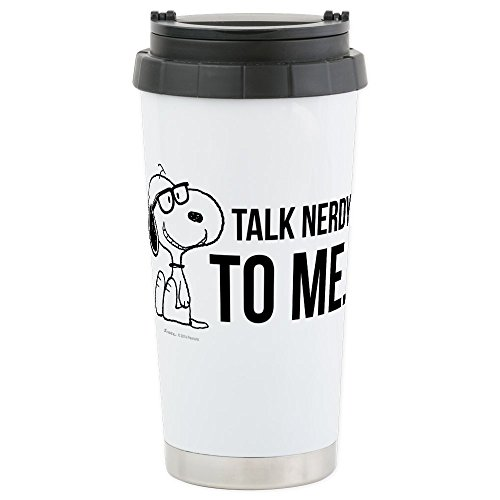 CafePress-Snoopy-Nerd-Stainless-Steel-Travel-Mug-Insulated-16-oz-Coffee-Tumbler