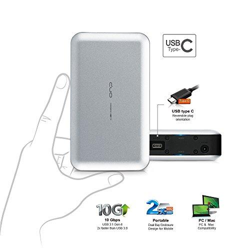 "Mediasonic ProRaid USB-C 2 Bay 2.5"" SATA SSD/Hard Drive En"