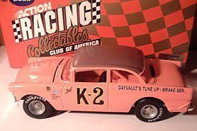 Action RCCA Dale Earnhardt 1956 Pink K-2 K2 Apricot Roof Top Ford Victoria Clear Window Bank CWB 1/24th Scale. Hood Opens Action Racing Collectable Club American Limited Edition ()