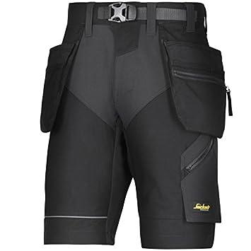 Snickers 69048704054 Size 54'FlexiWork' Shorts - Camouflage Grey/Black
