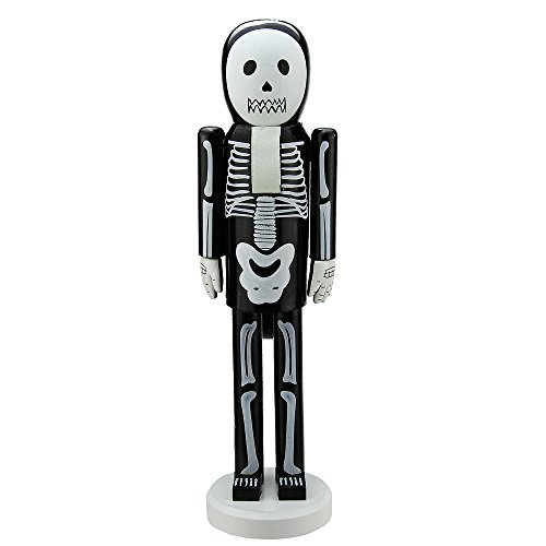 Northlight Skeleton Wooden Halloween Nutcracker, 14