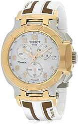 Tissot T-Race White Dial SS Silicone Chrono Quartz Men's Watch T0484172701200