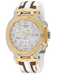 Tissot T-Race Chronograph White Dial White and Rose Gold-tone Silicone Mens Watch T0484172701200