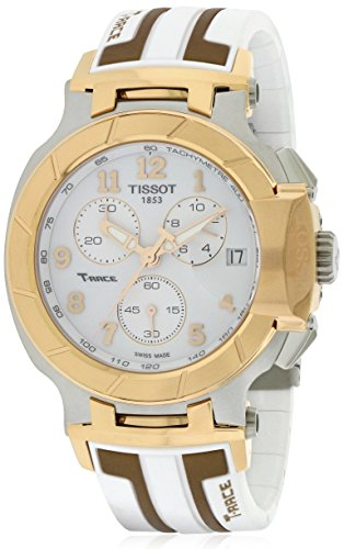 Tissot T-Race White Dial SS Silicone Chrono Quartz Men's Watch T0484172701200 - Watch Pvd White Dial