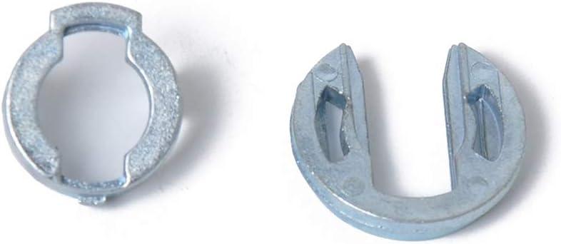 168 Rekkles Puerta Duradera Kit de reparaci/ón de Bloqueo de Repuesto para Seat Ibiza C/órdoba Delantero Izquierdo y Derecho 65.5mm 6L3837167