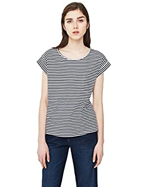 Mango Women's Striped Cotton T-Shirt