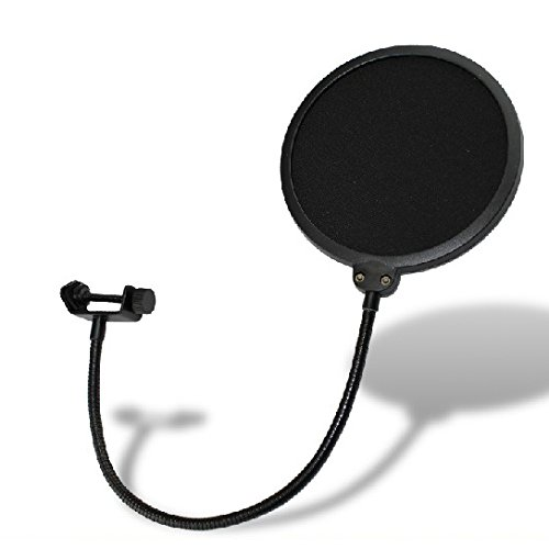Weymic® Studio Wind Screen Pop Filter Mask Shield-Studio Pop Filter/360° Flexible Gooseneck Holder Microphone Pop Filter 6-Inch Double Mesh Screen Essential Recording Studio Environment Equipment ()