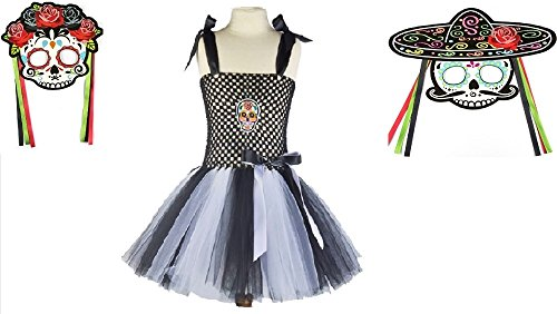 Black and White Sugar Skull Tutu Dress Costume from Chunks of Charm (24 -