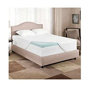 Novaform Gel Memory Foam 3 Inch Mattress Topper - King Size