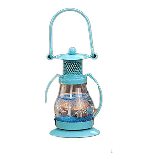 (Flamingogogo Mini Novelty Gel Wax Candle Ornaments Small Pendant Lamp Jelly Candles for Birthday Wedding Party Decor Gift,Blue)