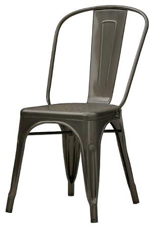 Amazon.com: Designform Furnishings Stella Side Chair in Matte ...