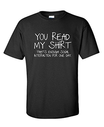 Enough Social Interaction Graphic Novelty Sarcastic Funny T Shirt 4XL Black