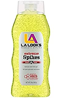 L.A. Looks Extreme Spikes Gel, Hold Level 12, 20-Ounce (Pack of