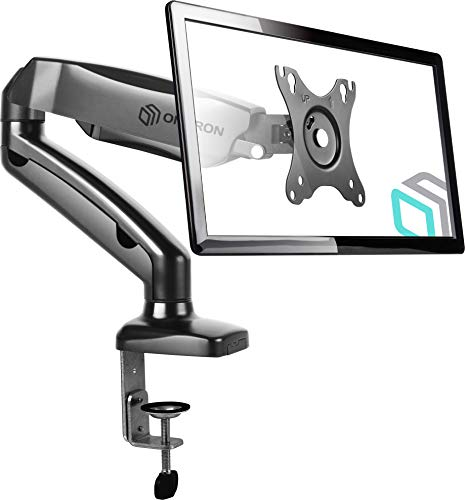 ONKRON Monitor Desk Mount for 13 to 27-Inch LCD LED OLED Screens up to 14.3 lbs G80 (Single Arm Articulating Mount)