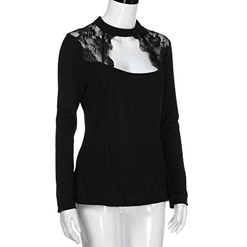 Chic t Hiver Soiree Noir Printemps Chemise Top Mode Vetement Pull Femme fDentelle Sweat Fashion Haut Manteau Fille Taille Blouse Shirt Grande Sport Sunenjoy TT Femme vtaEW