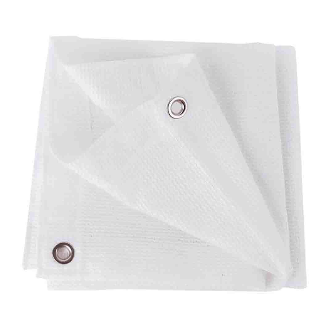 DPPAN Tenda Parasole Vela Panno Parasole Protettiva dal Sole, 80% Protezione Raggi UV, per Balcone Giardino Piscine Cortili Terrazze Cortile,bianca_6x8m