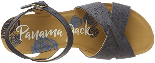 Panama Jack Damen Vika Rose Peeptoe Sandalen Blau (marino)