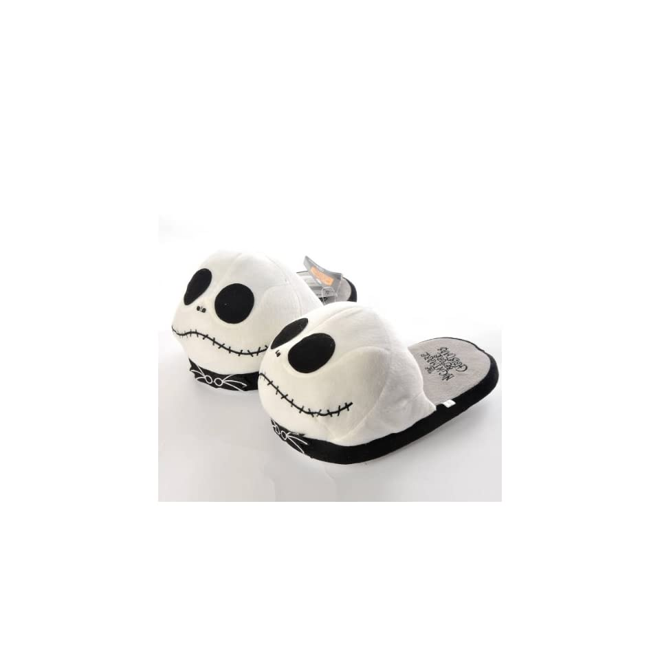 Disney Nightmare Before Christmas Xmas Soft Plush Home Indoor Slippers Warm Shoes White