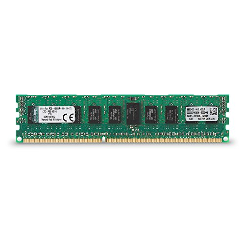 (Kingston Technology 8GB 1600MHz DDR3 Reg ECC Single Rank DIMM Memory for Dell Desktops (KTD-PE316S/8G))