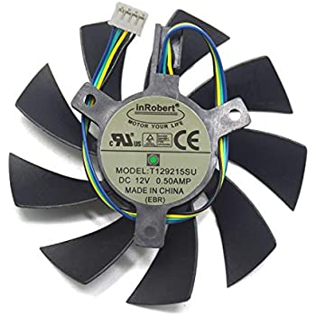 inRobert DIY Two Ball Bearing Video Card Cooling Fan for Zotac GTX 1060 Mini