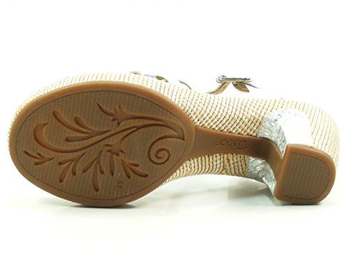 Gabor Gabor Comfort - Sandalias de Punta Descubierta, Mujer weiss/silb.(ba.st)