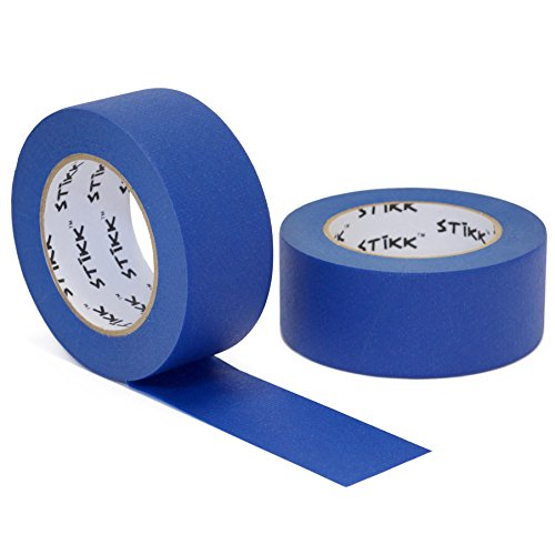 Blue Painters Tape 14 Day Easy Removal Trim Edge Finishing Masking Tape (1.88 IN 48MM) (2 Pack) ()