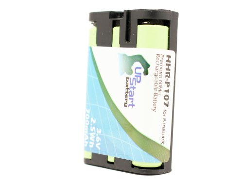 Panasonic KX-TG6051 Battery - Replacement for Panasonic Cordless Phone Battery (700mAh, 3.6V, NI-MH) by UpStart Battery (Image #1)