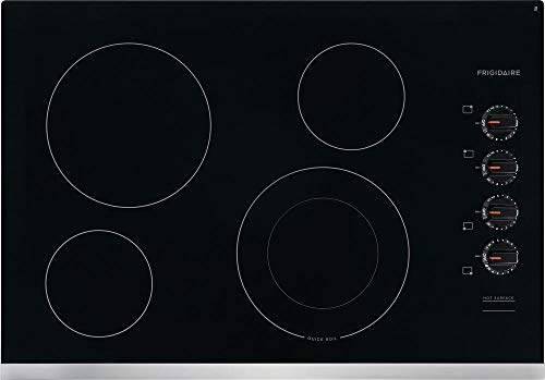 Frigidaire FFEC3025US 30 Inch Electric Smoothtop Style Cooktop with 4 Elements, in Stainless Steel (Frigidaire Electric Stoves)