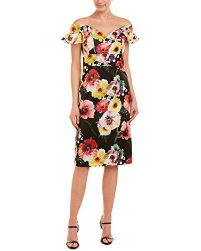 David Meister Womens Sheath Dress, 12, Black