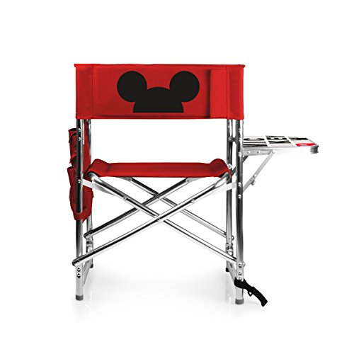 PICNIC TIME Disney Classics Mickey Mouse Portable Folding Sports Chair, Red Classic Mickey Mouse Pad