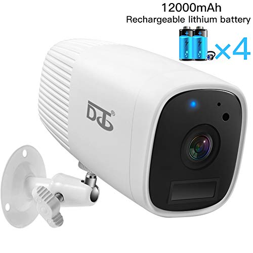 Wireless Security Camera HD 1080P Outdoor/Indoor Assistant -Two Way Audio Talk WiFi Camera, PIR Motion Sensor IR Night Vision Detection, Build in SD Card Slot White