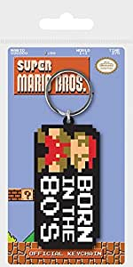 1art1 Super Mario - Bros. Born In The 80s Llavero (6 x 4cm ...