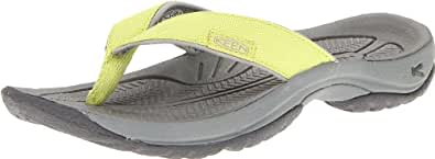 KEEN Women's Kona Flip Flop,Bright Chartreuse/Neutral Gray,9.5 M US