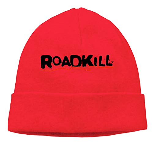 Jocasa Roadkill Woolen Hat,Skull Knit Hat Beanies Caps Red