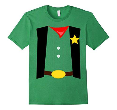 Mens Kids Costume Shirt Sheriff Halloween DIY costume shirts Medium Grass - Diy Halloween Costumes Green Dress