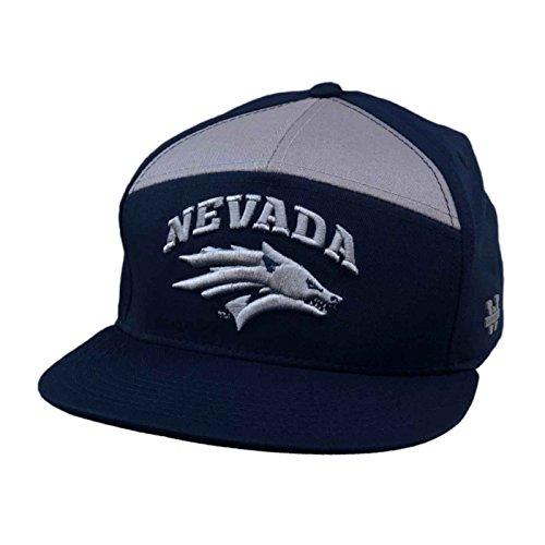University of Nevada Reno Wolf Pack NCAA 7 Panel Flat Bill Snapback Baseball Cap Hat