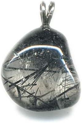Pendentif quartz tourmaline Extra avec B/éli/ère argent