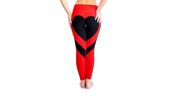 CoURTerzsl - Mallas de Yoga para Mujer, diseño de corazón ...