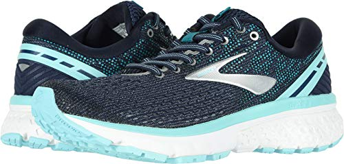 Brooks Women's Ghost 11 Navy/Grey/Blue 6 Wide US