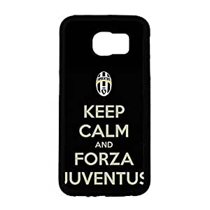 Official Juventus FC Phone Case Keep Calm Design Juventus FC Logo Cover Case Snap On Samsung Galaxy S6 Serie A Design