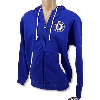 finest selection 00873 d1f7f CHELSEA FC SOCCER FOOTBALL CLUB OFFICIAL HOODIE ZIP SWEATSHIRT SZ S