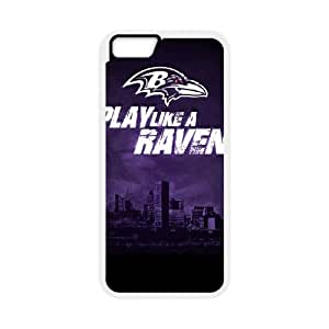 Baltimore Ravens iPhone 6 Plus 5.5 Inch Cell Phone Case White persent zhm004_8566461