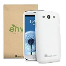 GreatShield HQ Slim-Fit Rubberized Back Case Cover for Samsung Galaxy S3 III i9300 - (White)