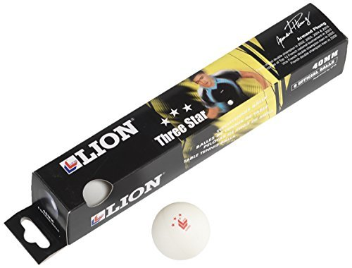 Lion 3 Star Table Tennis Balls - White by Lion by Lion