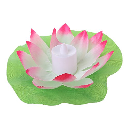 LED Floating Lotus Flower Candles Light Lamps On Water Swimming Pool Garden Christmas Decoration Light Wedding Wishing Lamp Decor Environment Holiday Fake Tea Lights Relaxation By Sixsons (Candle Fake App)