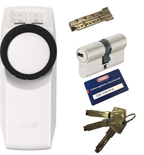 Abus HOMETEC Pro cfa3000 W + ec660 doble cilindro 40/65mm con emergencia. DOBLE EMBRAGUE, 3 Llave + 1 antriebsschlüssel: Amazon.es: Bricolaje y herramientas