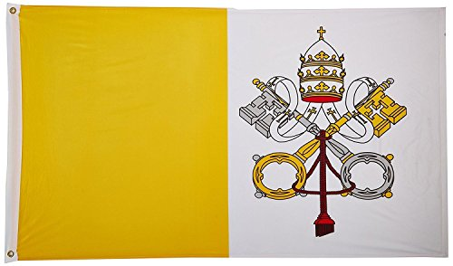 ALBATROS 2 ft x 3 ft Vatican City Flag 2x3 Nylon Polyester Pope House Banner Brass Grommets for Home and Parades, Official Party, All Weather Indoors Outdoors -